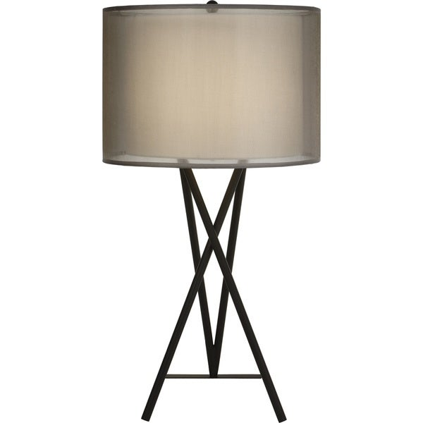 Triton Sheer Smoke Table Lamp
