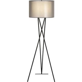 Triton Sheer Smoke Floor Lamp