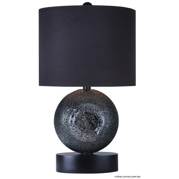 Ebony Deco Glass Lamp