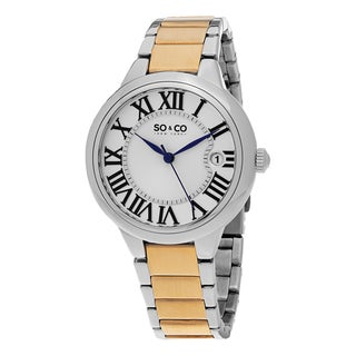 SO&CO New York Women's Madison Quartz Stainless Steel Bracelet Watch