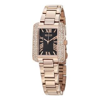 SO&CO New York Women's Watch Madison Quartz Swarovski Crystal Stainless Steel Bracelet Watch