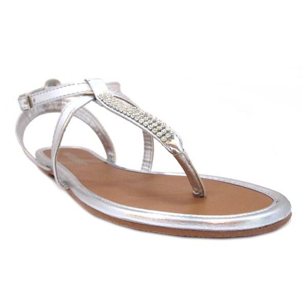 Olivia Miller Women's 'Foxy' Multi Rhinestone Trimmed Sandals