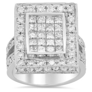 14k White Gold 3 1/5ct TDW Diamond Ring (E-F, VS1-VS2)