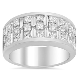 18k White Gold 3 1/10ct TDW Diamond Engagement Ring (E-F, VS1-VS2)