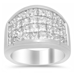 18k White Gold 3 3/4ct TDW Diamond Engagement Ring (E-F, VS1-VS2)