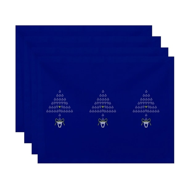 Print Decorative Tri Holiday Trees Table Top Placement