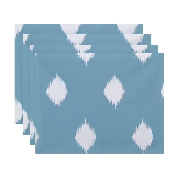 Ikat Print Decorative Holiday Table Top Placement