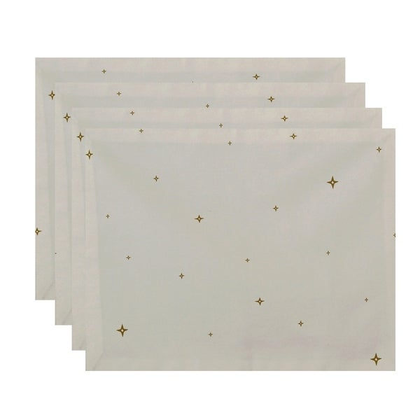 White Small Star Geometric Print Decorative Holiday Table Top Placement