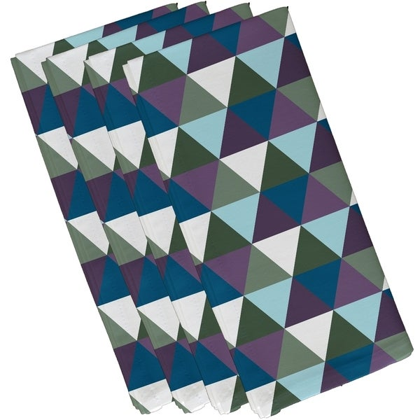 Green Geometric Triangle Print 10-inch Table Top Napkin