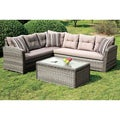 Furniture of America Bliss 3-Piece Outdoor Sectional Set