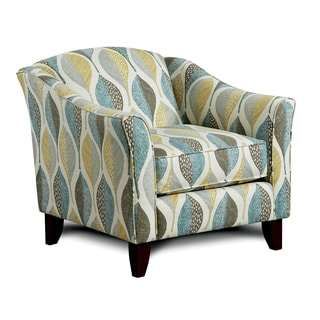 Furniture of America Springfall Leaf Patterned Swooping Arm Chair