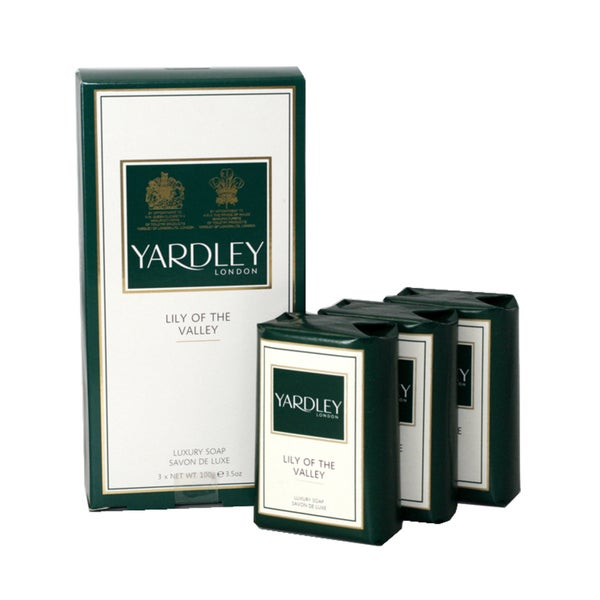 Yardley of London Lily Of The Valley Soap (Pack of 3)