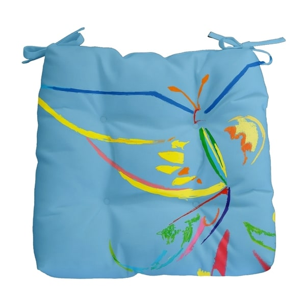 Abstract Butterfly Print Outdoor Seat Cushion
