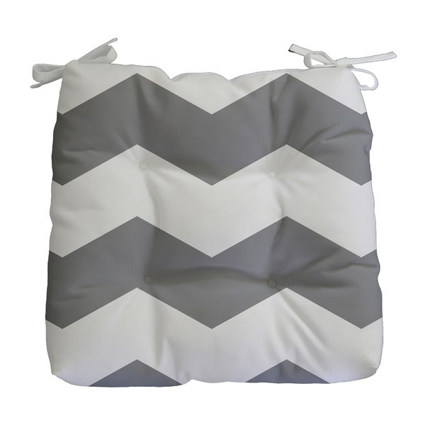 Geometric Chevron Print Outdoor Seat Cushion