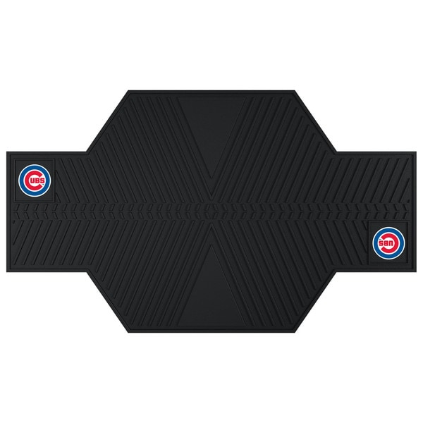Fanmats Chicago Cubs Black Rubber Motorcycle Mat