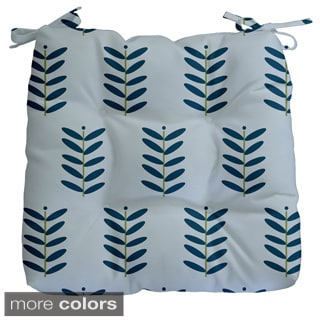 Floral Leaf Print Outdoor Seat Cushion