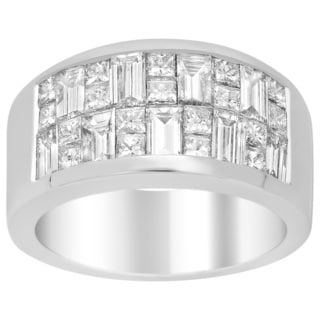 18k White Gold 2 1/2ct TDW Diamond Engagement Ring (E-F, VS1-VS2)