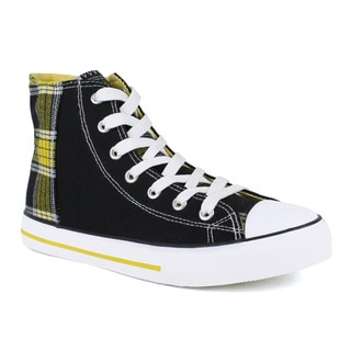 Fahrenheit Women's Velia-06 Back Plaid Women's Ankle High Sneakers