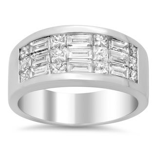 18k White Gold 1 4/5ct TDW Diamond Engagement Ring (E-F, VS1-VS2)