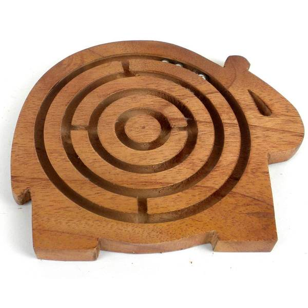 Handcrafted Sheesham Wood Animal Maze (India)