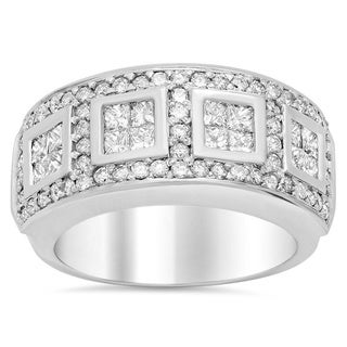 14k White Gold 2 1/4ct TDW Engagement Diamond Ring (E-F, VS1-VS2)