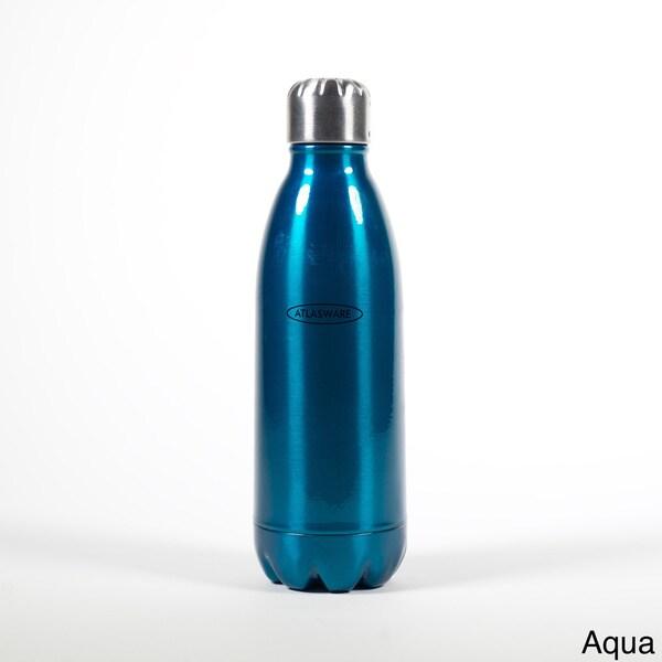 Atlasware 12-ounce Stainless Steel Insulated Bottle