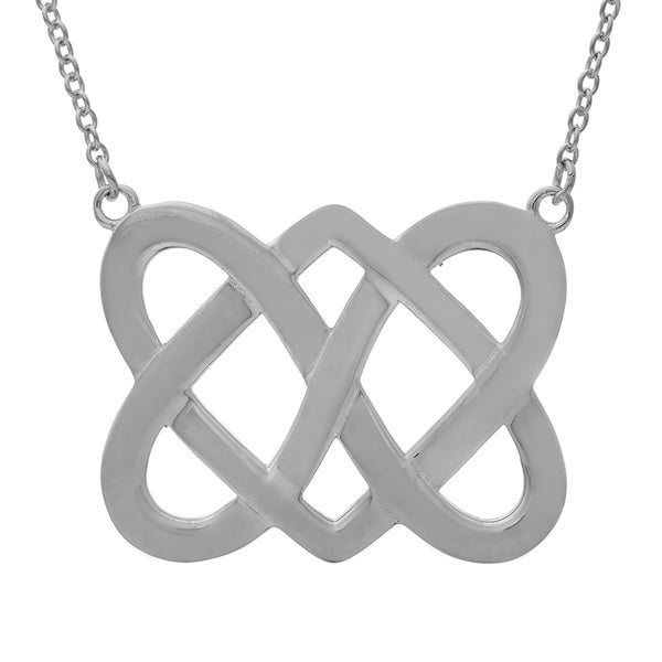 Sterling Silver Celtic Double Heart Pendant
