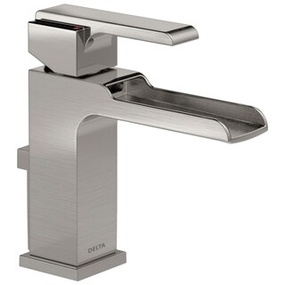 Delta Stainless Steel Ara Single Handle Lavatory Faucet with Channel Spout