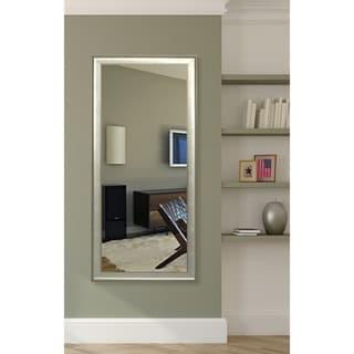 American Made Rayne Vintage Silver Floor Mirror