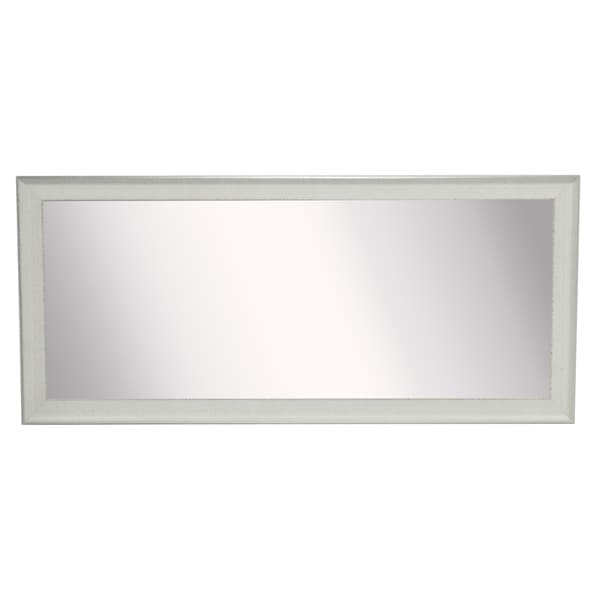 American Made Extra Large Vintage White Mirror