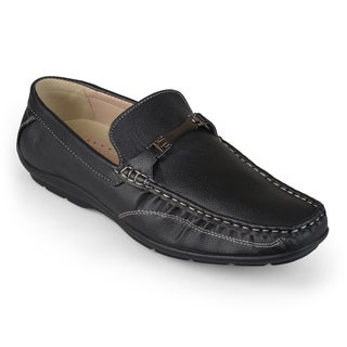 Vance Co. Men's Textured Faux Leather Loafers