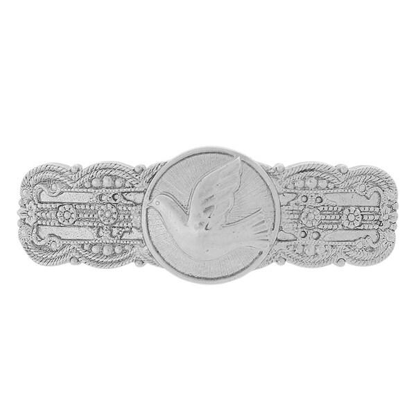 The Vatican Library Collection Silvertone Embossed Dove Barrette
