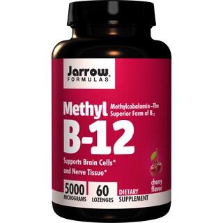 Jarrow Formulas Methyl B-12 5000 mcg (60 Lozenges)