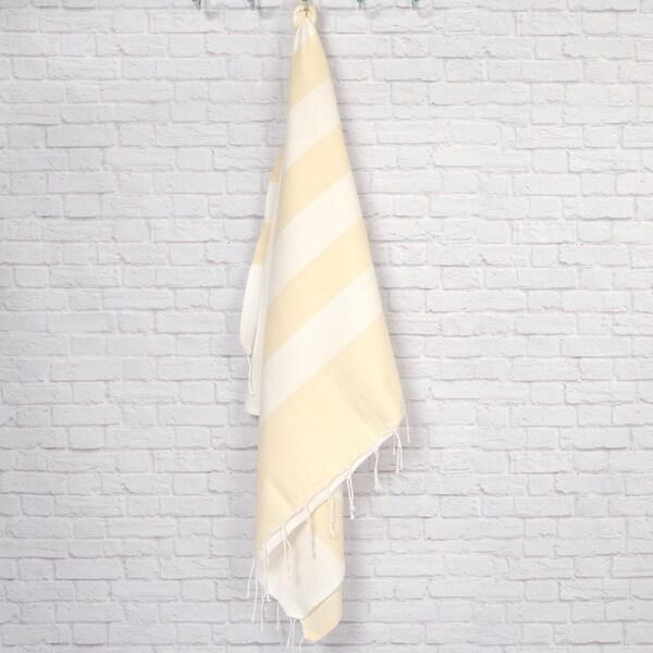 Pestemal Fouta Waffle Weave Cotton Striped Bath/ Beach Towel 15514166