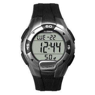 MedCenter Men's 5-alarm Sport or Medical Reminder Digital Black Watch