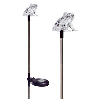 Tricod Frog Solar Powered Garden Stake Light (Set of 2)