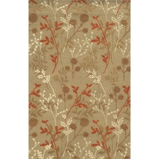 Rizzy Home Rockport Collection 100-percent Wool Hand-Tufted Ivory/ Beige Accent Rug (3' x 5')