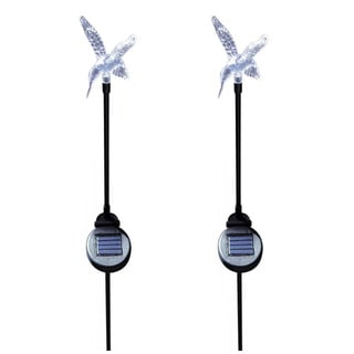 Tricod Solar Hummingbird Garden Stake Color Change Light set of 2pcs
