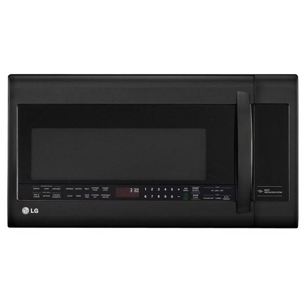 LG 2.2-cubic-foot Over-the-Range Microwave Oven Black