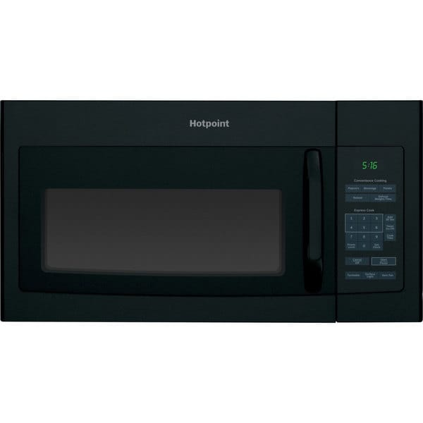 Hotpoint 1.6-cubic-foot Over-the-Range Microwave Black