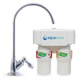 Aquasana 2-stage Chrome Undercounter Claryum Water Filter