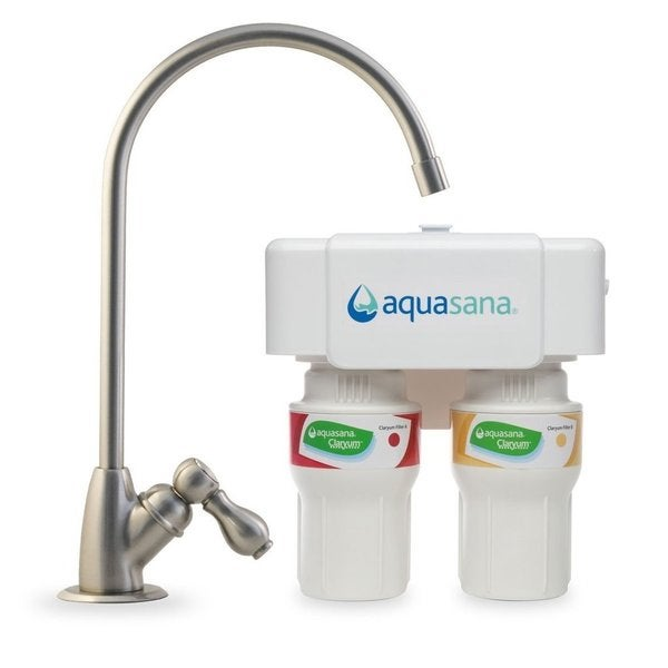 Aquasana 2-showbiz Brushed Nickel Undercounter Claryum Water Filter