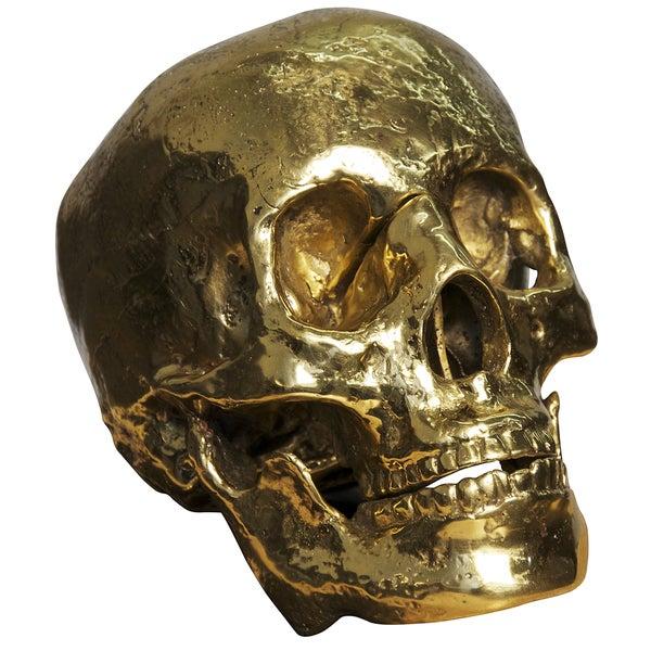 Rustic Brass Skull Decor