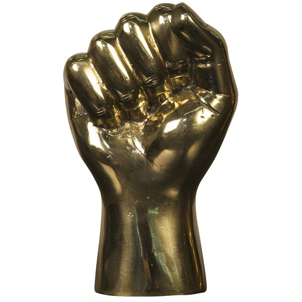 Brass 'The Solidarity Fist' Hand Decor