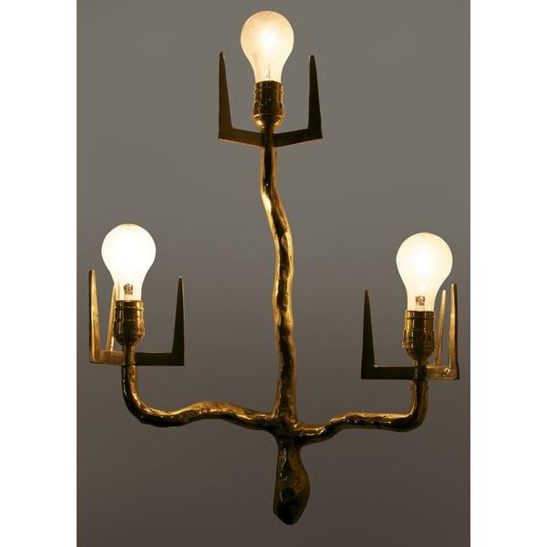 Antiqued Brass 3-light Sconce