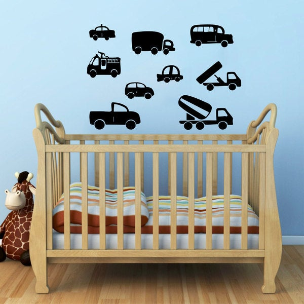 Kids Cars Vinyl Sticker Wall Art