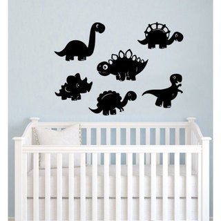Dinosaurs Vinyl Wall Art (Set of 6)