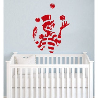 Clown The Magician Juggler Nursery Vinyl Sticker Wall Art