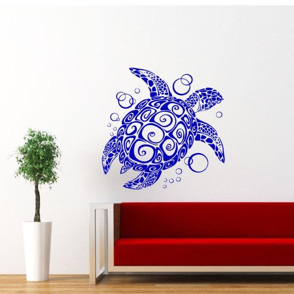 Sea Turtle Vinyl Sticker Wall Art 15514701