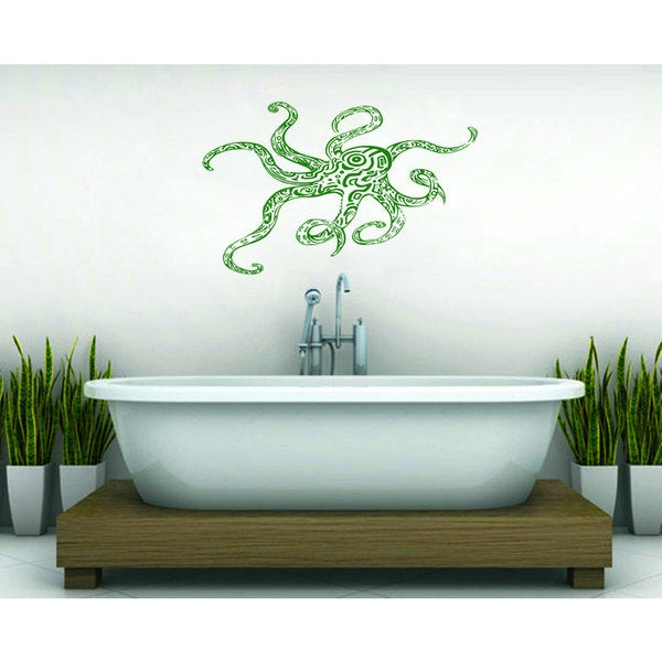 Octopus Bathroom Sticker Wall Art